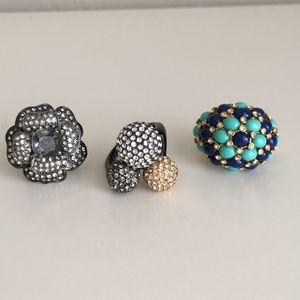 Lot of Stella & Dot women's rings